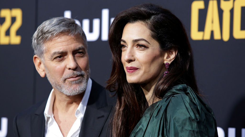 George Clooney y su mujer Amal Alamuddin
