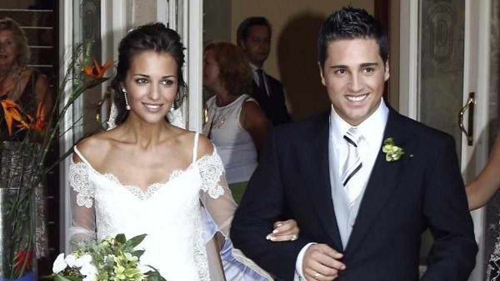 Paula y David se mostraron muy sonrientes el día de su boda.