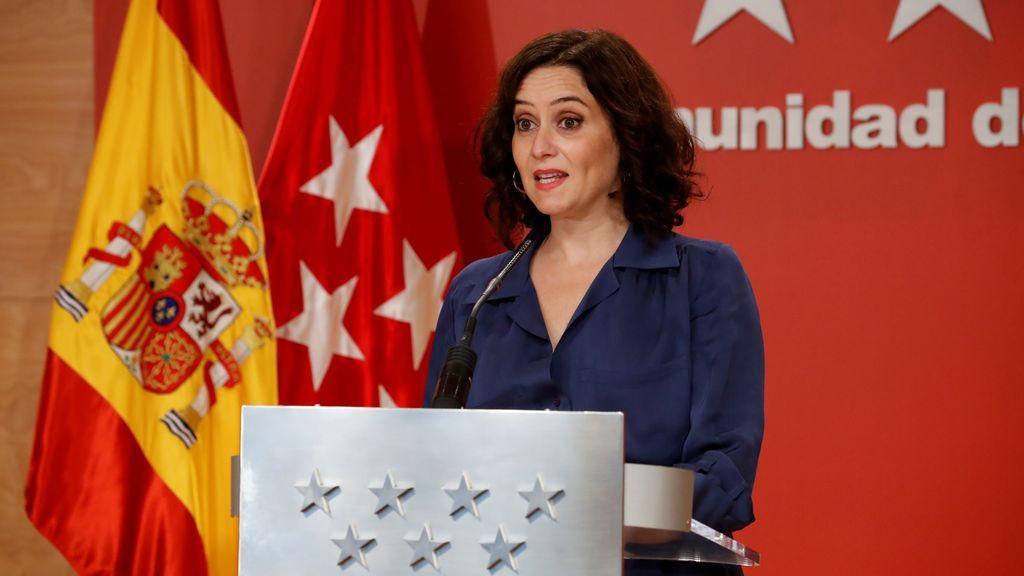 """Ayuso no se reunirá con Sanidad hasta tener """"una orden trabajada y completa"""" con nuevas medidas para Madrid"""