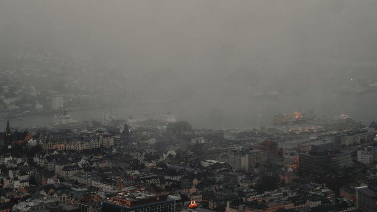 'Smog' en Noruega por una masa de polvo procedente de Ucrania y Rusia