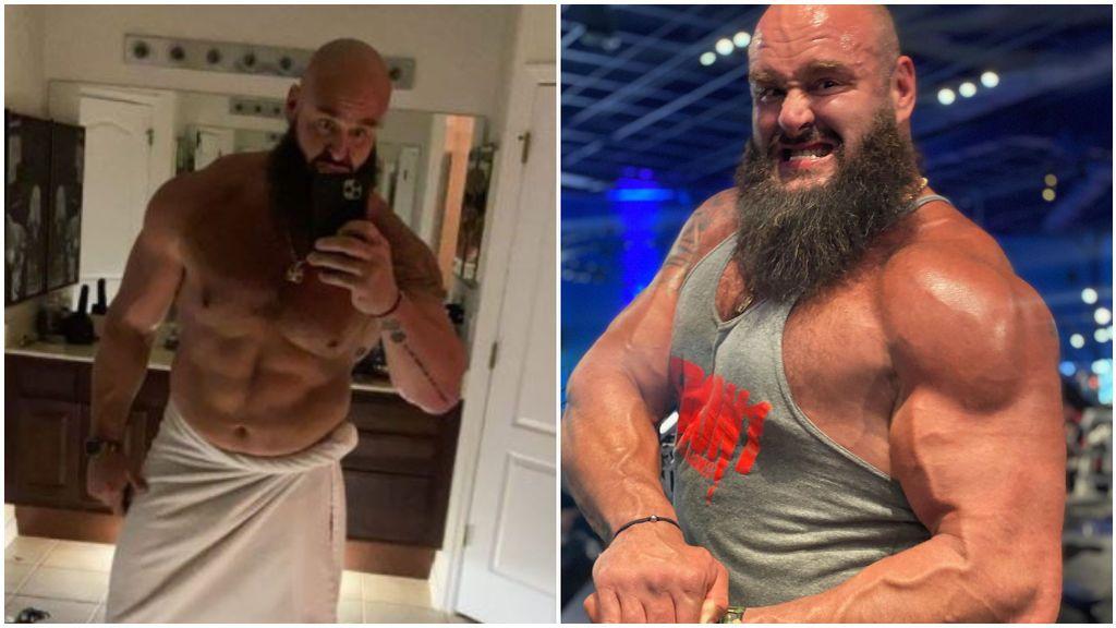 Braun Strowman se hizo un selfie en el baño y se olvidó una jeringa.