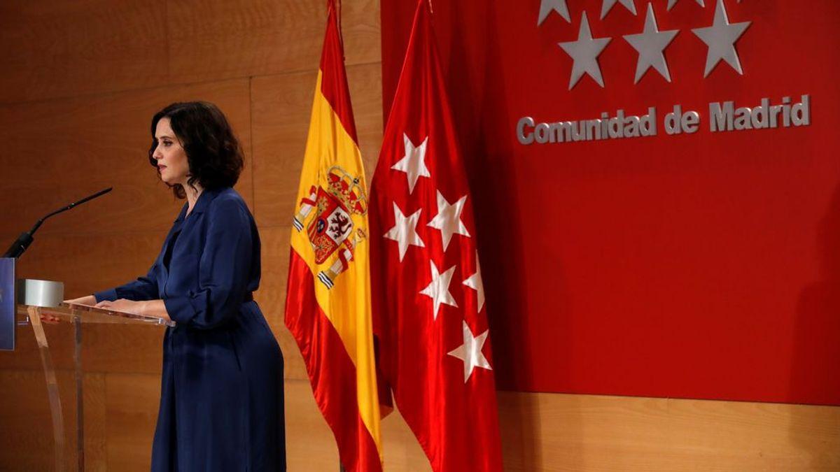 Isabel Ayuso espera tener en 24 horas medidas pactadas con Sanidad y pide a los madrileños no salir de puente