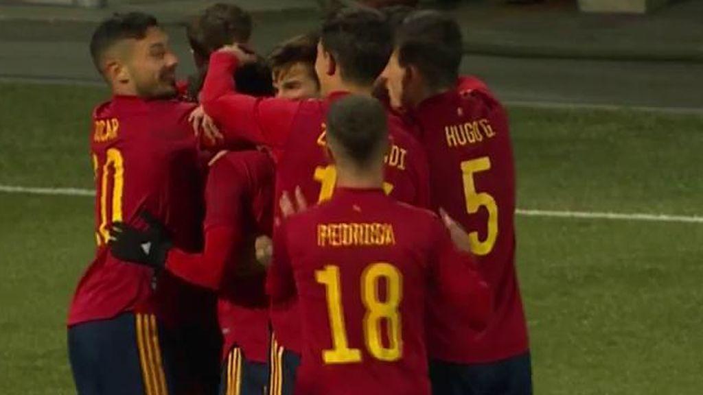 Brahim adelanta a España tras salir desde el banquillo y acerca la clasificación para el Europeo (0-1)