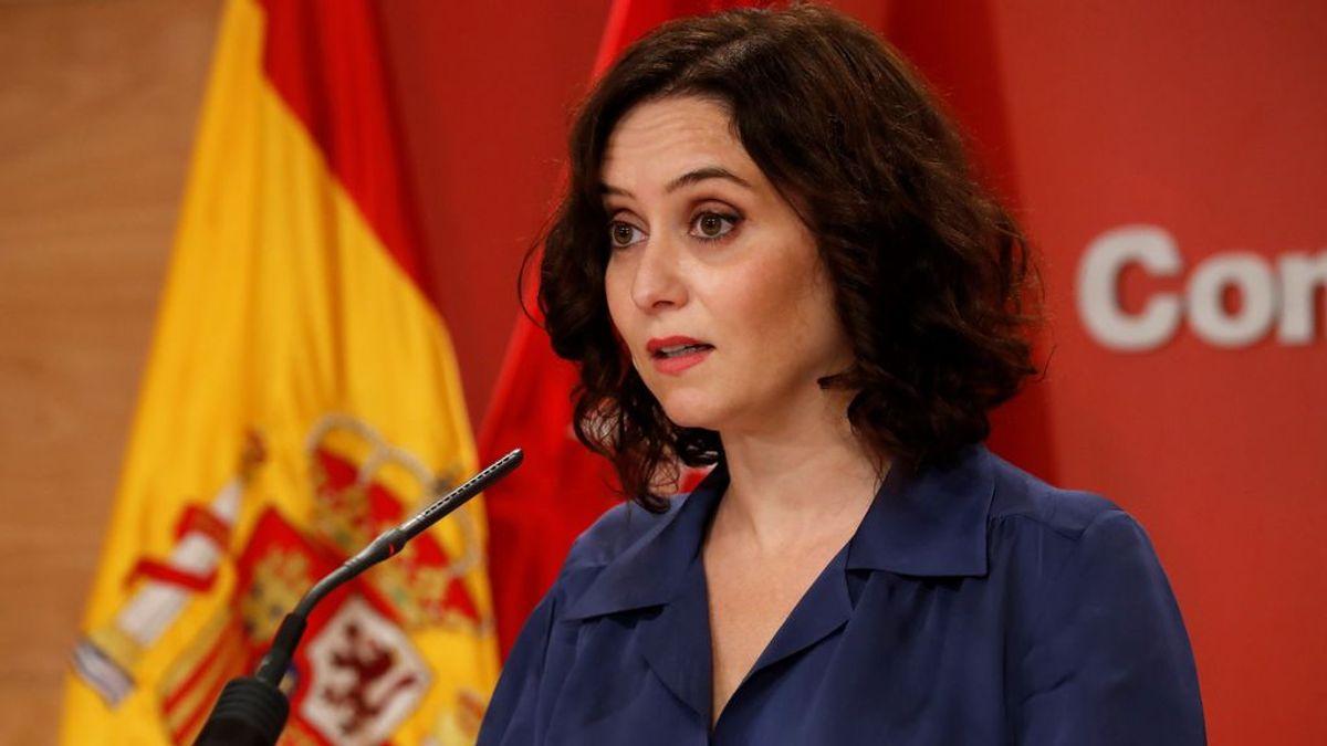 """Ayuso se reunirá con Sánchez """"a primera hora"""" para """"pactar una solución que beneficie a los ciudadanos"""""""