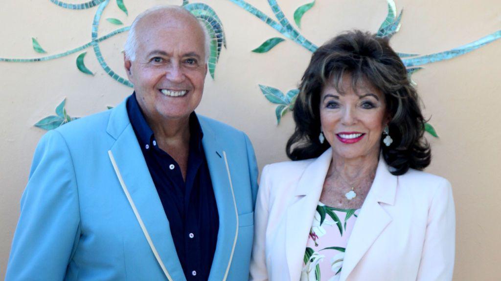 José Luis Moreno con Joan Collins