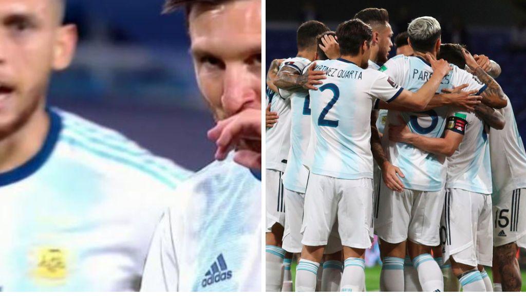 La conversación entre Ocampos y Messi antes de lanzar el penalti ante Ecuador