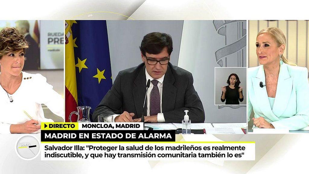 Cristina Cifuentes estalla contra el estado de alarma decretado en Madrid