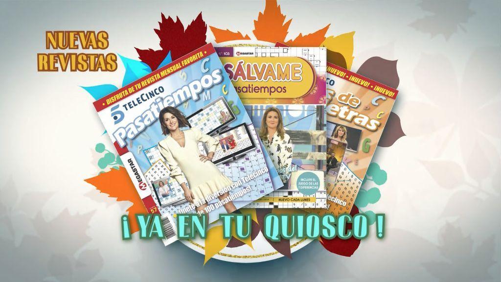Revistas de Pasatiempos Sálvame, Pasatiempos Telecinco y Sopas de letras ya a  la venta