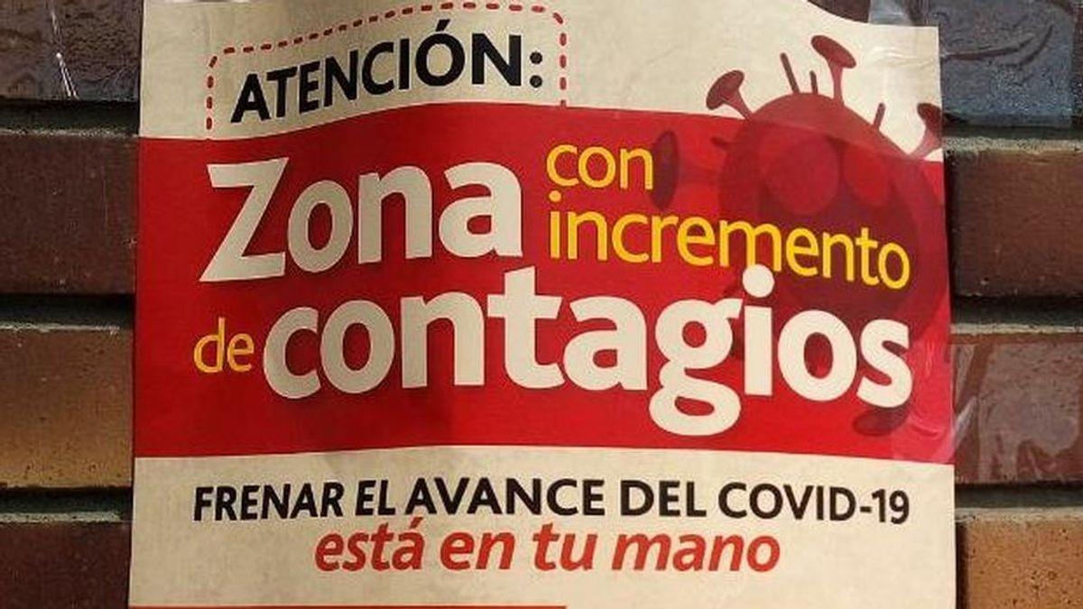 Zona con incremento de contagios: los carteles que estigmatizan a los vecinos de Colmenar Viejo