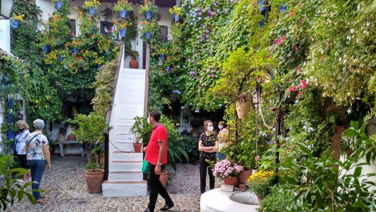 Los Patios de Córdoba florecen en tiempos de coronavirus: drones de vigilancia, sensores de aforo y tomas de temperatura
