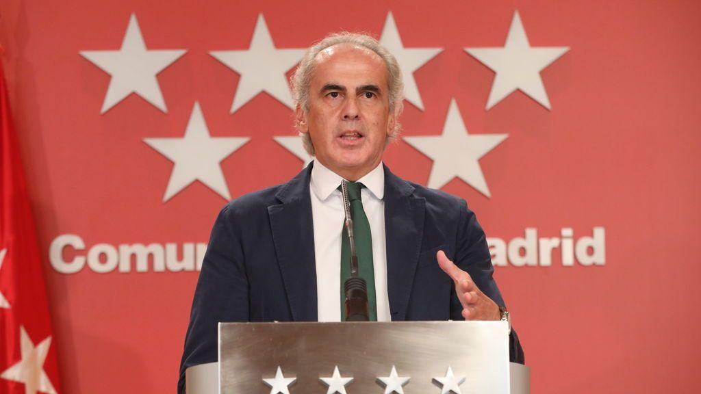 """Escudero considera """"impensable"""" una prórroga del estado de alarma en Madrid"""