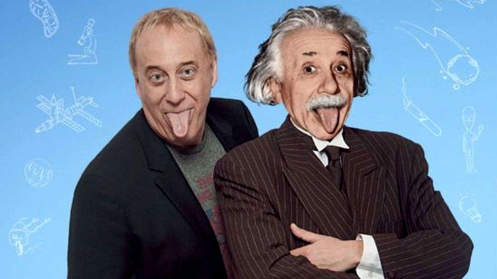 Mainat, con Einstein en la portada de su libro 'Ciencia Optimista' (2015)