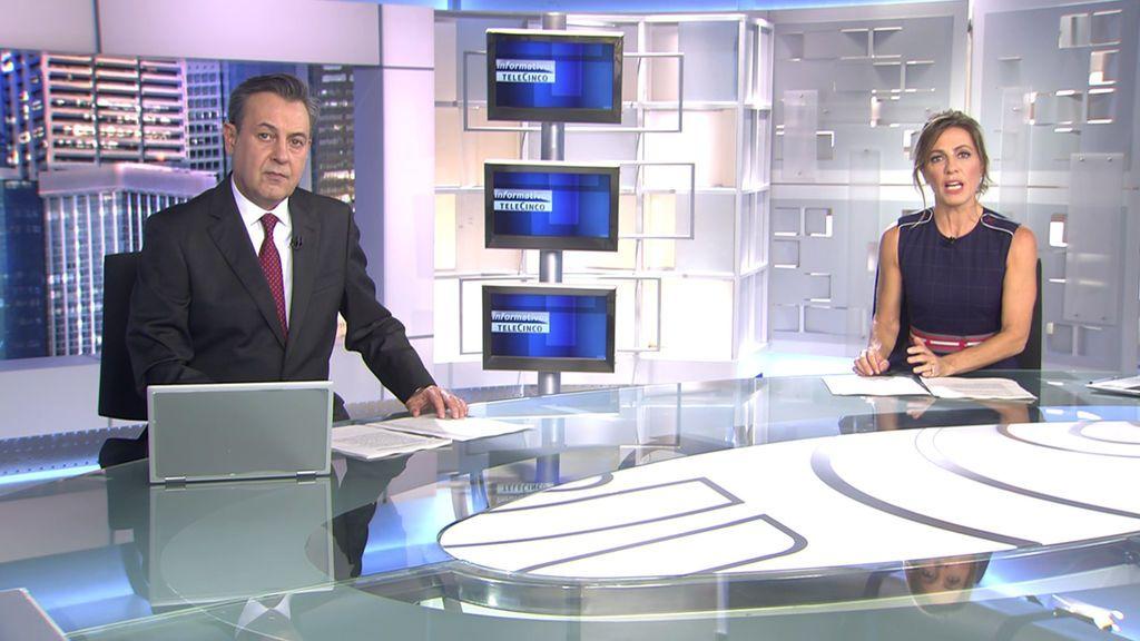 Con José Ribagorda y Ángeles Blanco Informativos Telecinco 2020 Noche 10/10/2020