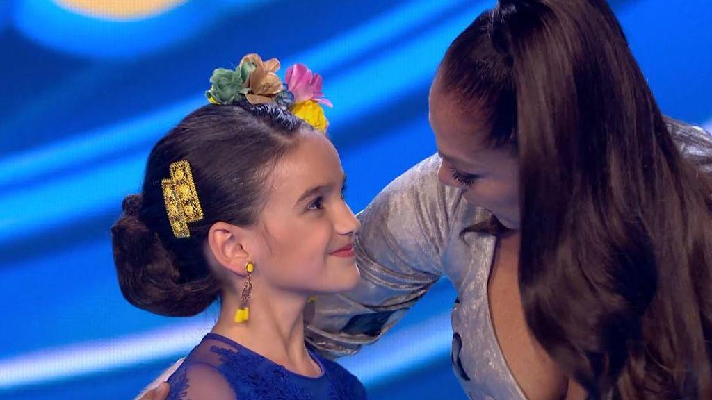 """Isabel Pantoja viaja a su niñez gracias a Cayetana y se rinde ante la folclórica de ocho años: """"Tienes más arte que yo"""""""
