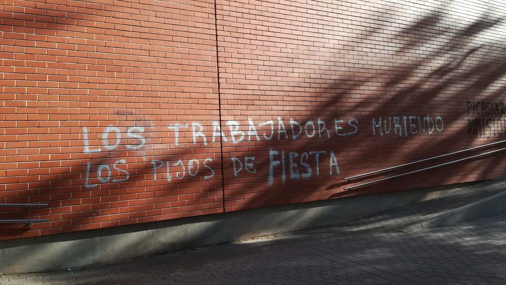Pintada en la fachada del Galileo Galilei de Valencia