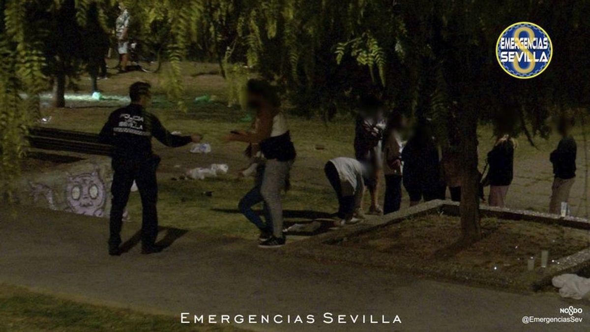 Sevilla bate récord de denuncias por botellón durante el puente del Pilar con 800 multas