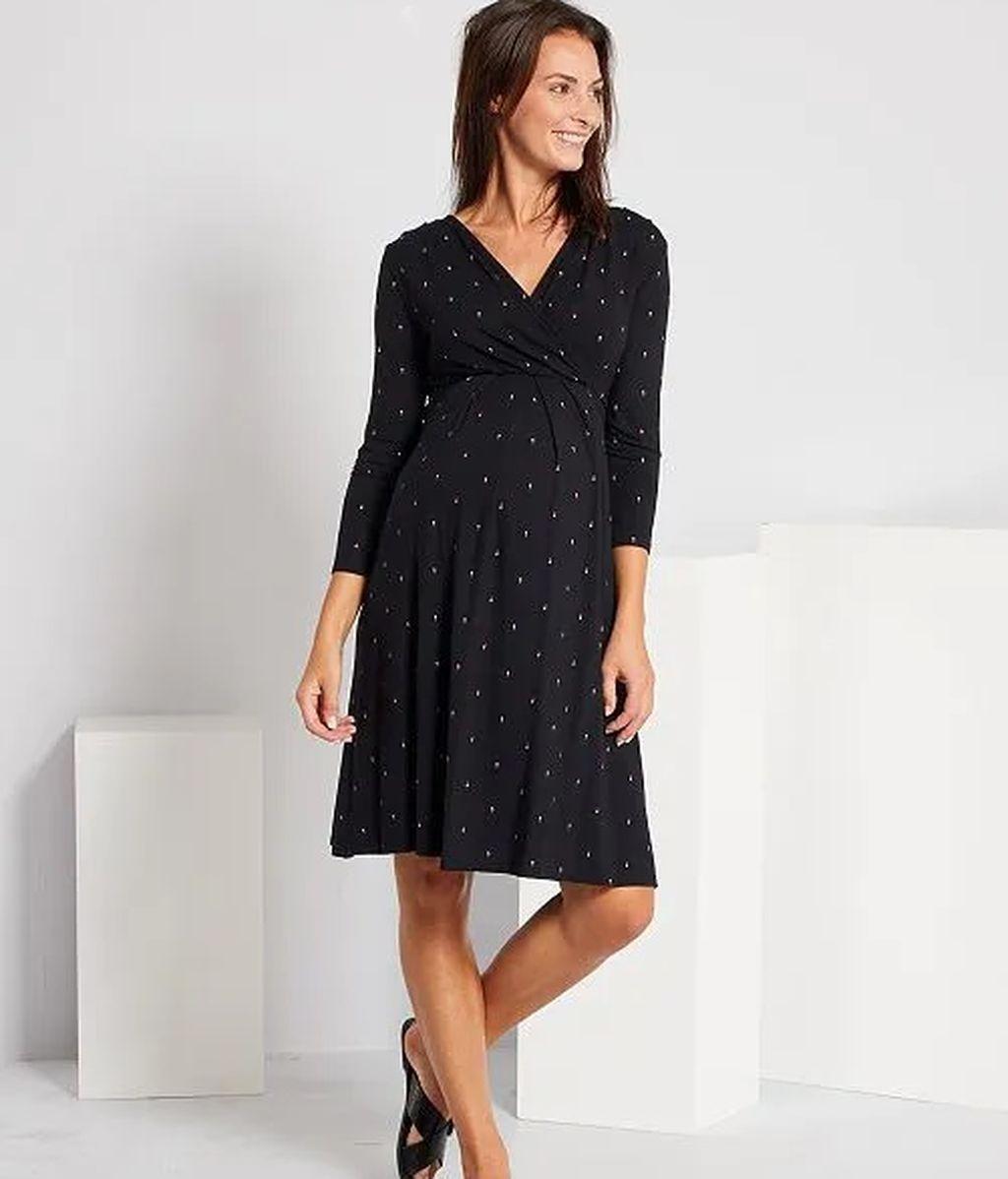 vestido-premama-negro-LUNARES -KIABI