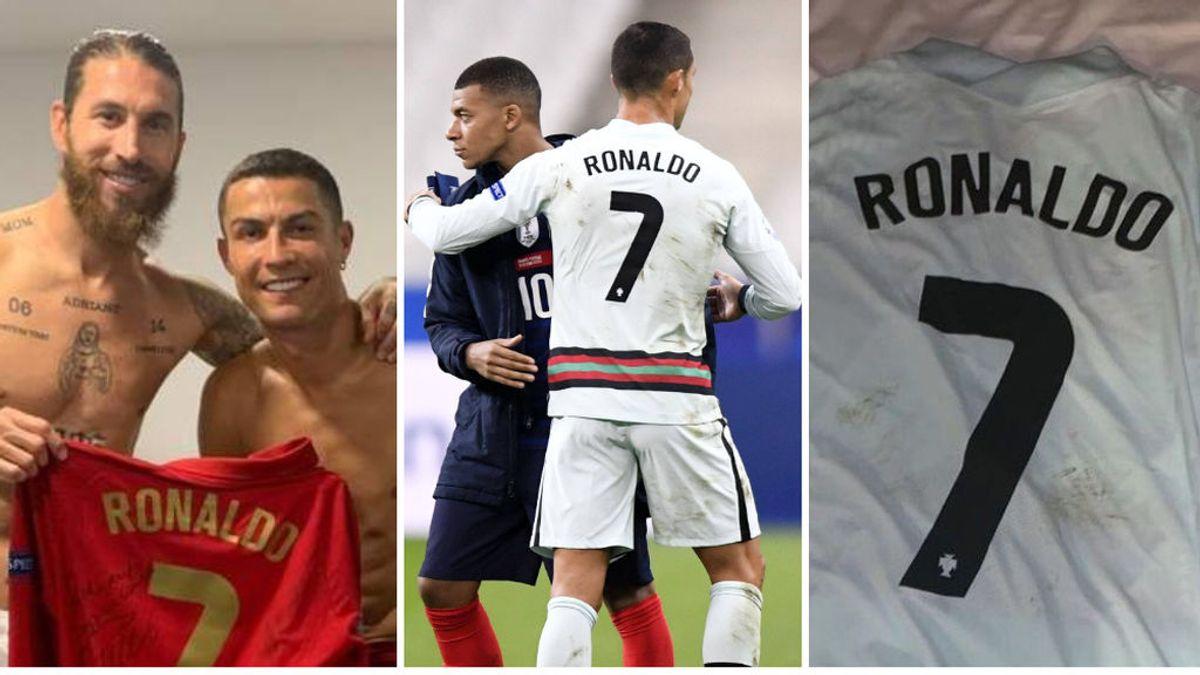 Los últimos pasos de Cristiano antes de dar positivo: abrazos con Ramos, Varane o Mbappé y una camiseta sudada a Camavinga