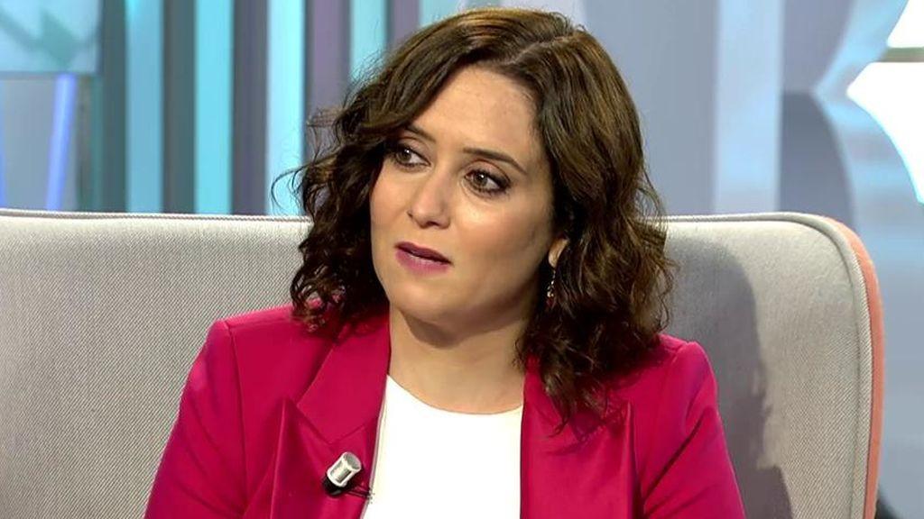 Díaz Ayuso, presidenta de la Comunidad de Madrid, habla sobre los test y Salvador Illa