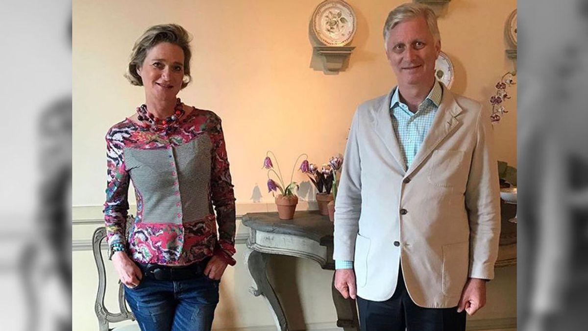 Delphine Boël y Felipe de Bélgica