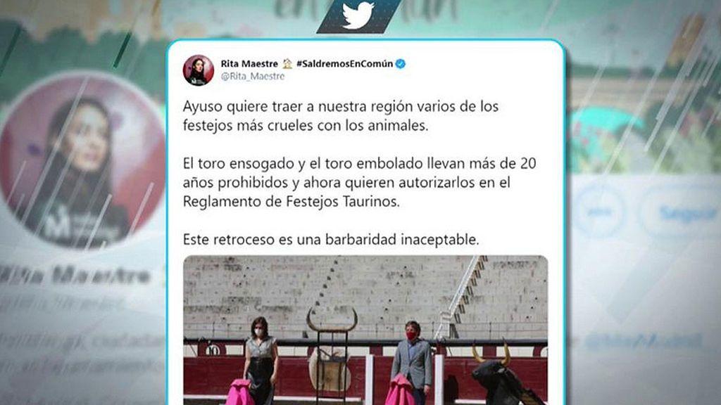 """Rita Maestre denuncia la autorización en la Comunidad de actividades taurinas: """"El toro ensogado y el toro embolado llevan más de 20 años prohibidos"""""""