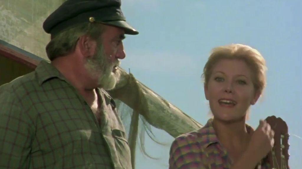 Antonio Ferrandis (Chanquete) con María Garralón (Julia) en 'Verano azul'
