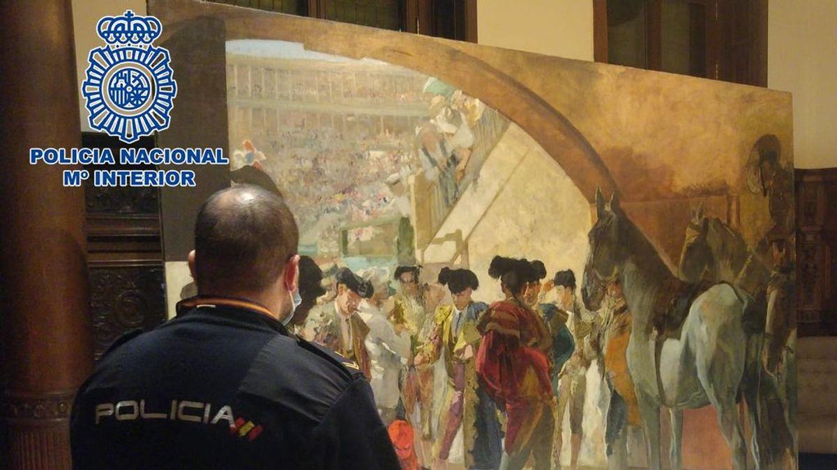 Recuperado en Bruselas un cuadro del pintor Joaquín Sorolla valorado en tres millones de euros