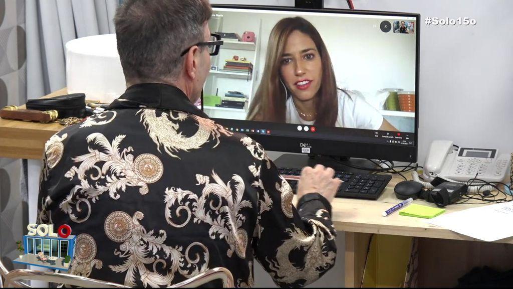 Nuria Marín habla con el Maestro Joao.