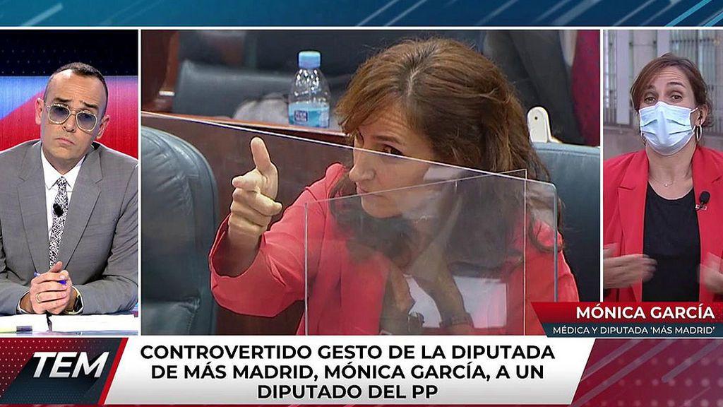 Mónica García, diputada de Más Madrid tras el gesto de 'la pistolita'