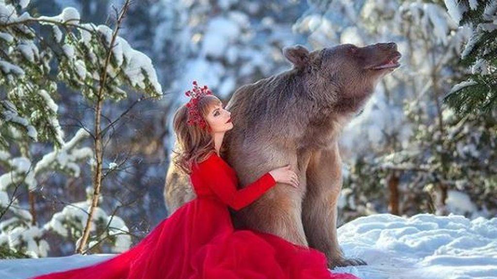 Pesa 350 kilos y es modelo: Stepan, el oso pardo que ha desatado la polémica en Rusia