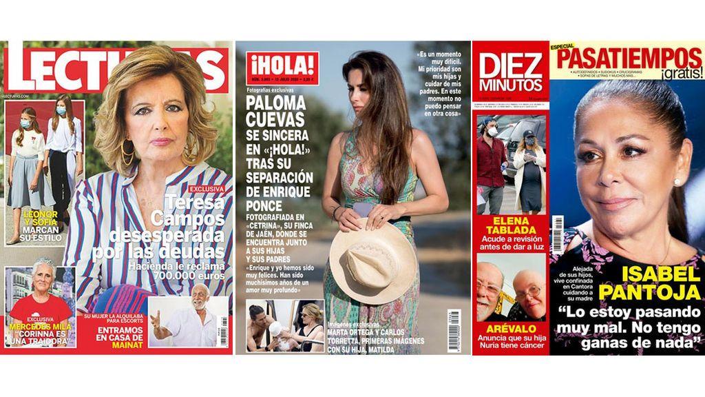 Portadas de revistas con mujeres en crisis