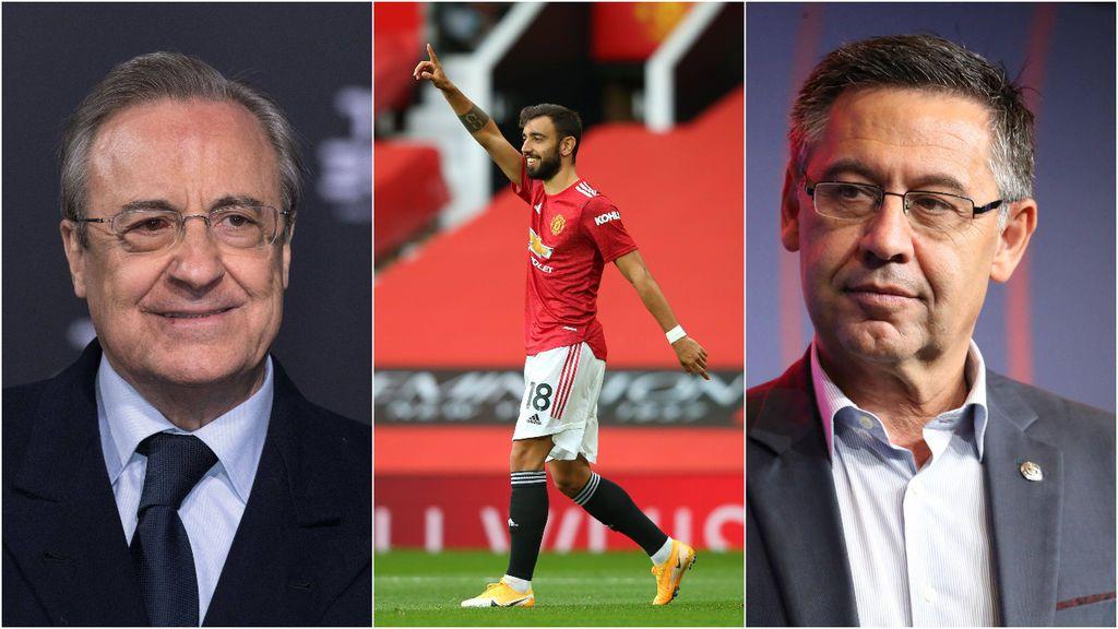 Real Madrid y Barça ponen el ojo en Bruno Fernandes: el portugués no está a gusto en el United y desde Inglaterra ya apuntan a su salida