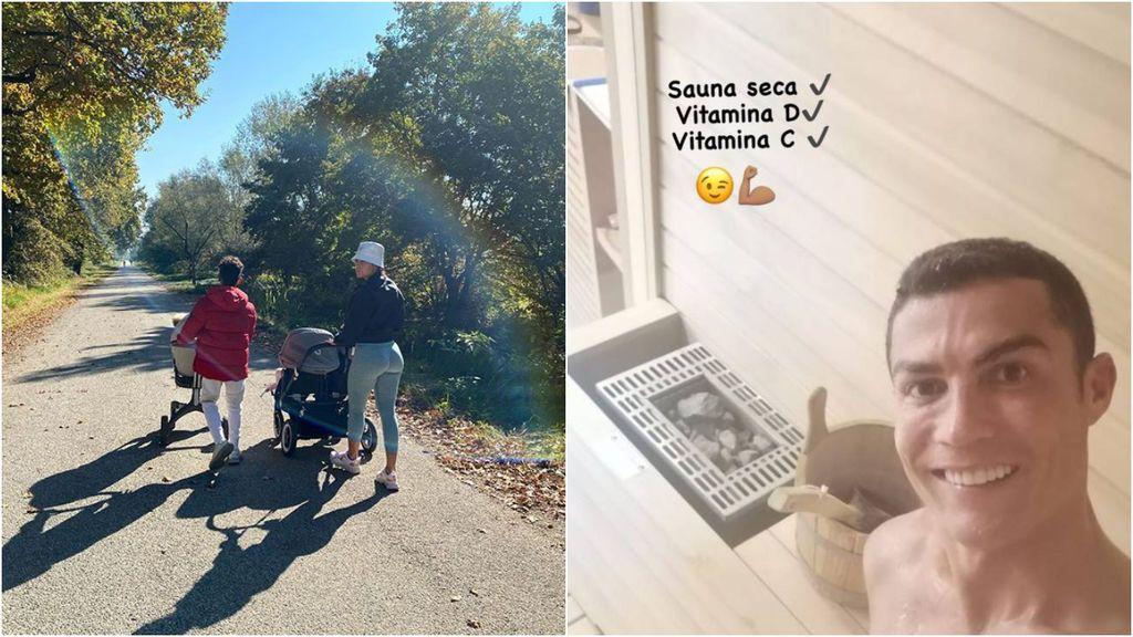Cristiano en cuarentena y aislado y Georgina de paseo con sus hijos: así está afrontando la familia del portugués la cuarentena