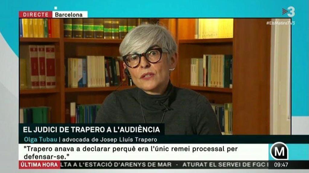 Olga Tubau, en una entrevista en TV3