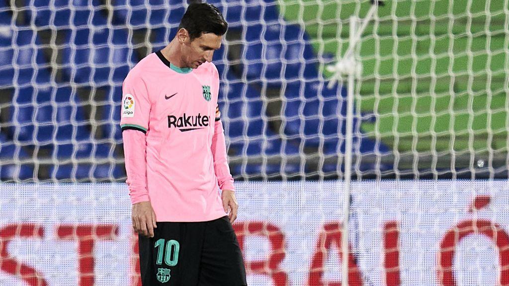 Leo Messi, durante el partido ante el Getafe.