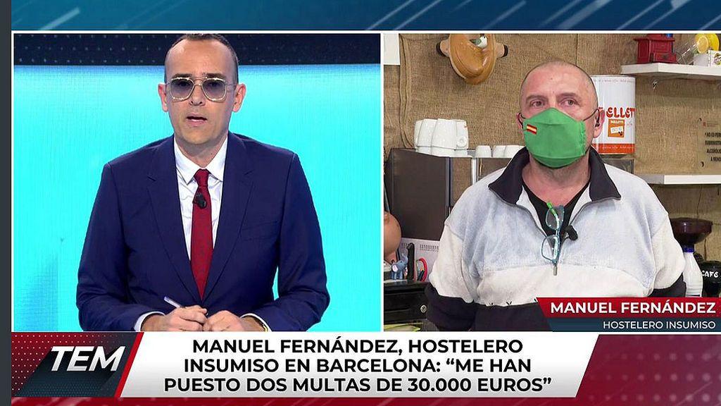 Manuel Fernández, hostelero insumiso de Cataluña