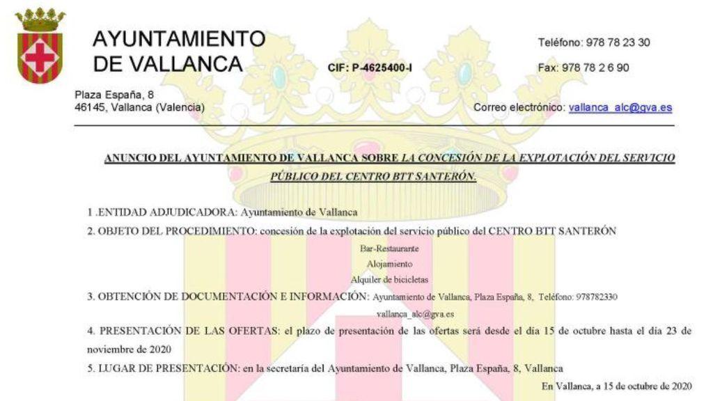 Oferta Vallanca