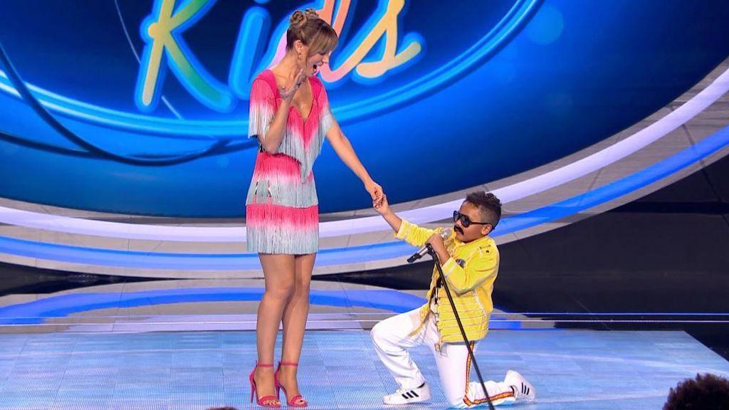 """El 'Freddie Mercury' de 7 años logra por fin el """"Sí"""" que Edurne le había negado en 'Got Talent 5'"""