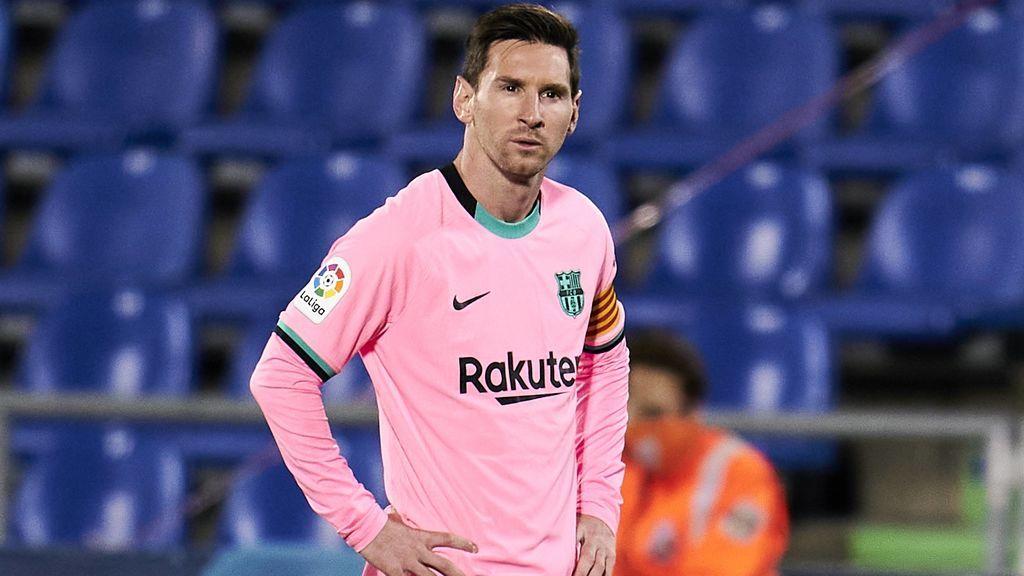 Leo Messi, durante el encuentro del Barcelona ante el Getafe.