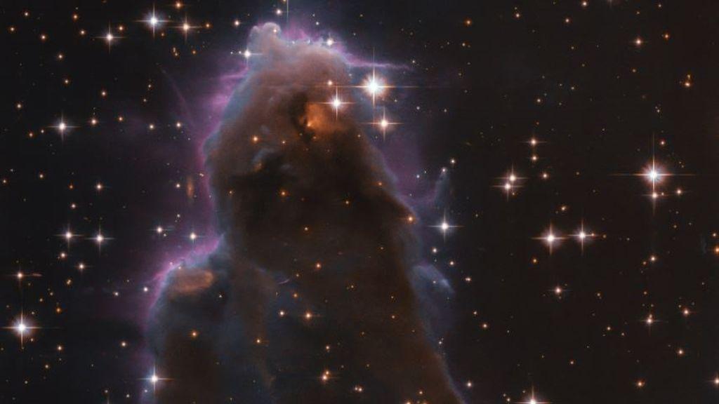 El satélite Hubble localiza un 'vivero' de estrellas con una forma curiosa