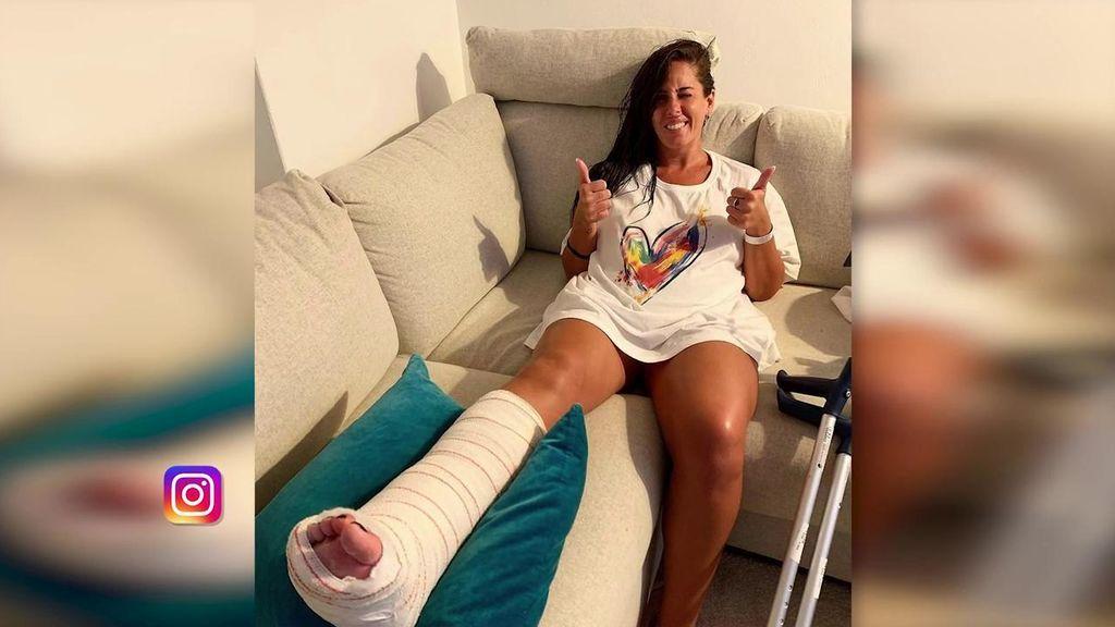 La tremenda lesión de Anabel Pantoja haciendo surf: nos cuenta entre lágrimas cómo se rompió el peroné