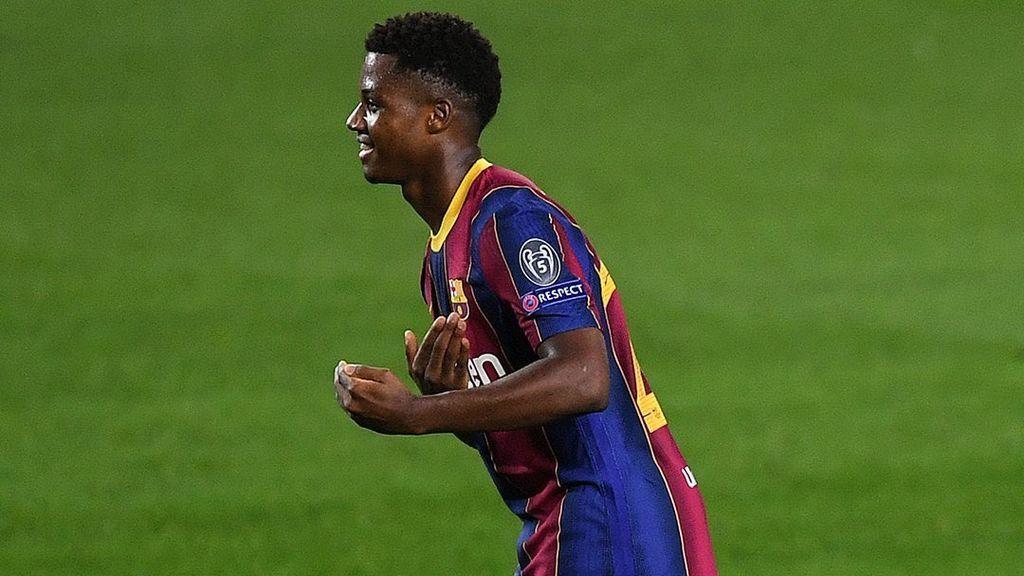 Ansu Fati y su dedicatoria más especial tras marcar gol: Brahima, su hermano, fue padre de una niña esta semana