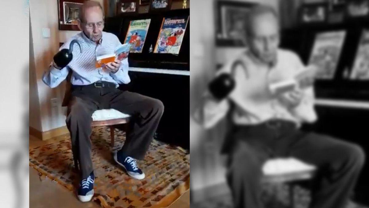 El autor de los libros de 'El Pirata Garrapata' y 'Fray Perico', todo un 'influencer' a sus 91 años