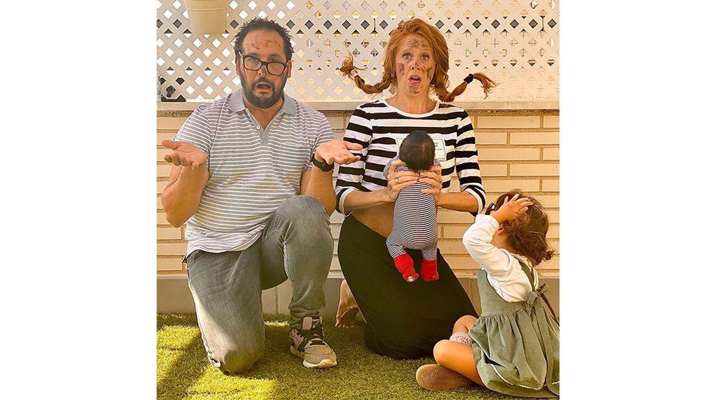 María Castro junto a su familia