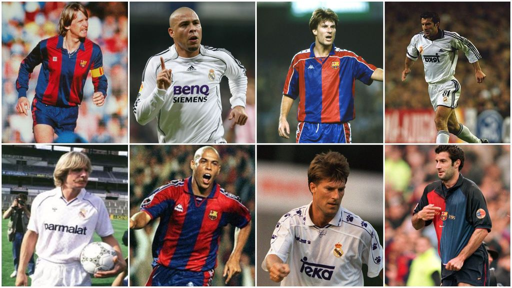 Los futbolistas que han pasado por el Real Madrid y Barça