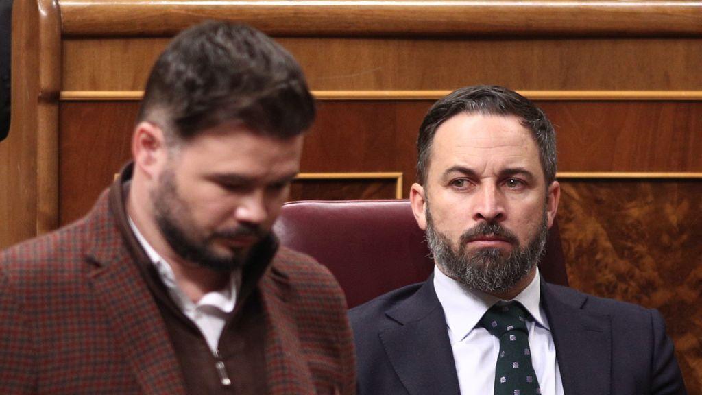"""PSOE y Podemos se negaron a """"hacer el vacío"""" a Vox en la moción de censura a propuesta de ERC"""