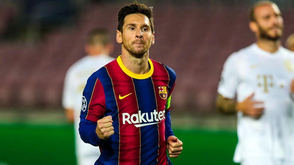 Leo Messi, durante el partido ante el Ferencvaros en Champions.