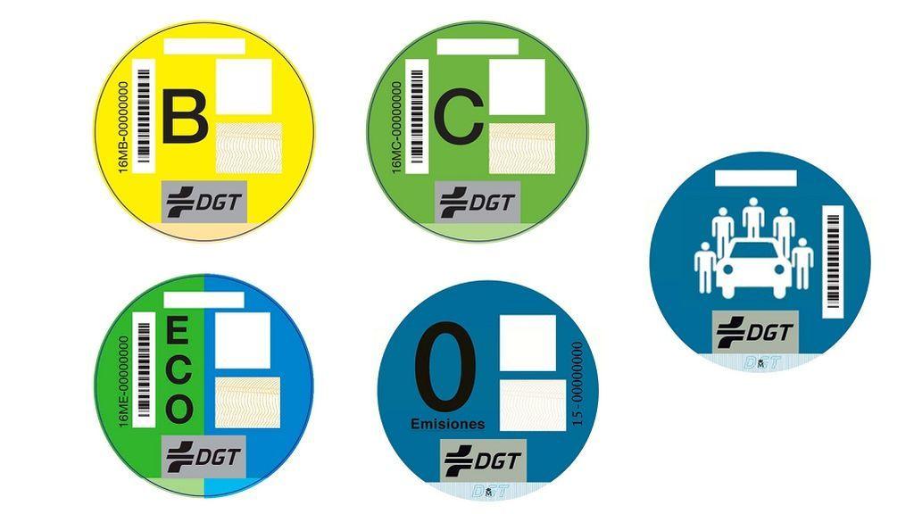 Las nuevas etiquetas de la DGT que vienen