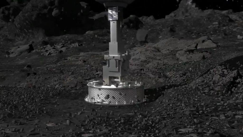La NASA consigue recoger muestras del asteroide Bennu