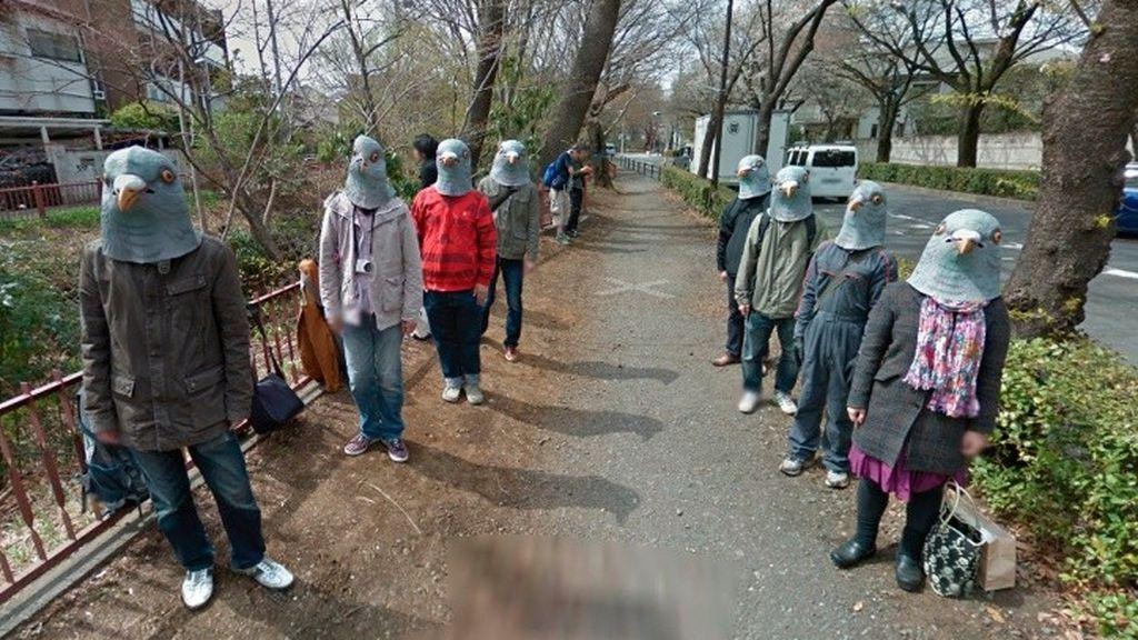 Hallazgo en Google Maps: extraños 'hombres paloma' en las calles de Tokio